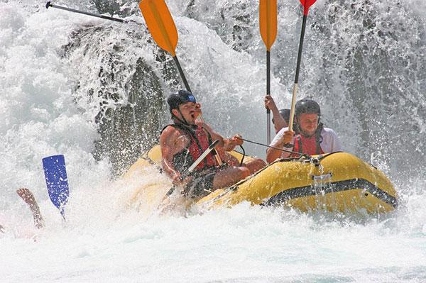 Rafting Seilrutschen